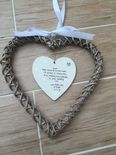 Gift For The Bride From Bridesmaid personalised Chic EXTRA LARGE Willow heart